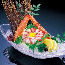 Red king crab sashimi