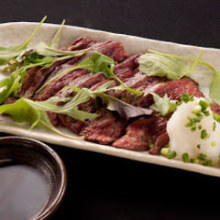 Charcoal grilled beef skirt steak