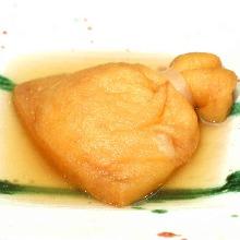 Rice cake-stuffed tofu (a type of oden)