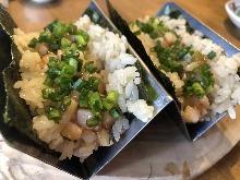 Horse mane meat sushi