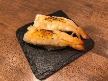 Seared shrimp