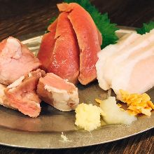 Assorted meat sashimi, 3 kinds