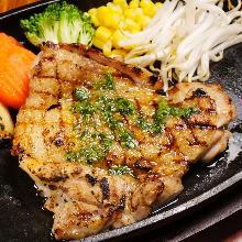Basil chicken steak