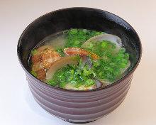 Manila clams miso soup