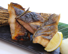 Grilled atka mackerel