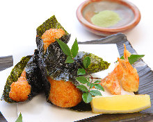 Seaweed-wrapped fried yams