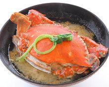 渡り蟹のお味噌汁