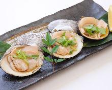 Grilled hamaguri clam