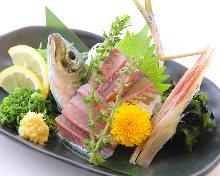Horse mackerel sashimi