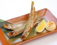 Grilled shishamo smelt