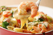 Shrimp gratin