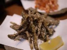 Fried loach