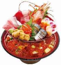 Seafood chirashi set