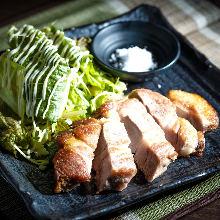 Thick cut pork steak