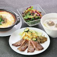 牛たん雑炊定食