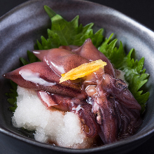Firefly squid pickled in soy sauce
