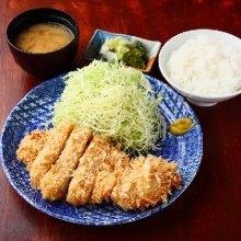 Pork loin cutlet set meal