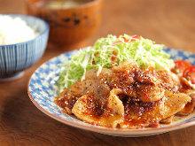 Ginger-fried pork set meal