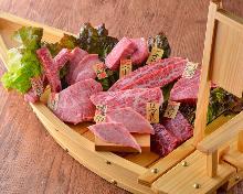 Assorted yakiniku dishes, 9 kinds