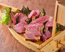Assorted yakiniku dishes, 9 kinds