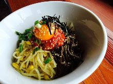 Bibimbap with soup