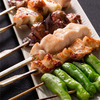 Grilled chicken skewers course