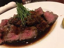 Sauteed Wagyu beef and foie gras