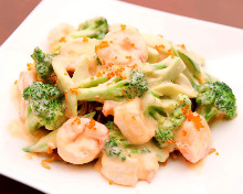 Shrimp mayonnaise stir-fry