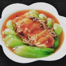 Yuba (tofu skin) with ankake sauce