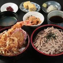Tempura rice bowl meal set