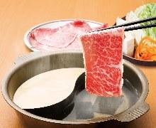 【黒毛和牛しゃぶしゃぶ・すきやき食べ放題コース】(120分)