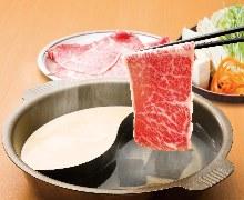 しゃぶしゃぶ・すきやきセットメニュー【国産牛ロース】