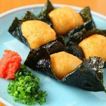 Seaweed-wrapped fried yams