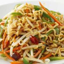 Spicy hot yakisoba noodles