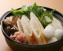 Locally raised chicken Kiritanpo hotpot