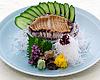 Fresh abalone sashimi