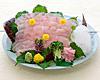 Halibut sashimi