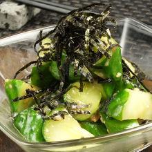 Ume (pickled plum) with cucumber