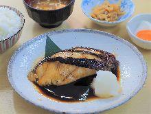 Teriyaki sablefish set meal