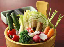 Vegetable platter with anchovy sauce