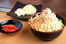 Rice cake and salted cod roe monja