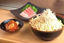 Pork and kimchi monja