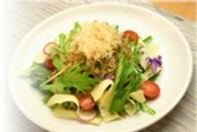 Baby sardine and mizuna salad