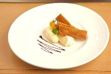 Grilled Saikyo miso cream cheese