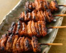 Grilled shiro (large intestine) skewer