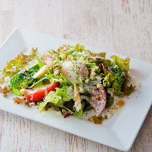 Caesar salad with slow-poached egg