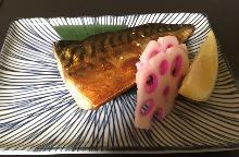 Dried mackerel seasoned with soy sauce