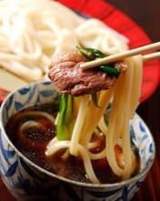 Chilled wheat noodles with duck
