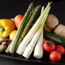 Grilled seasonal vegetables