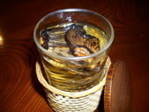 Sake Flavored with Grilled Puffer Fish Fins